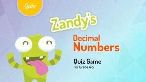 Decimal Numbers Quiz Game
