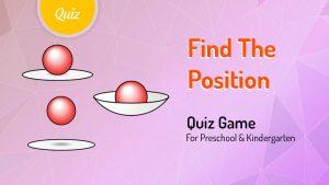 Positional Language Quiz Game