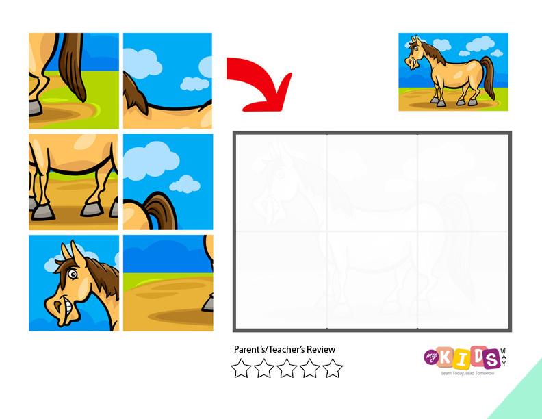 Jigsaw Puzzle horse